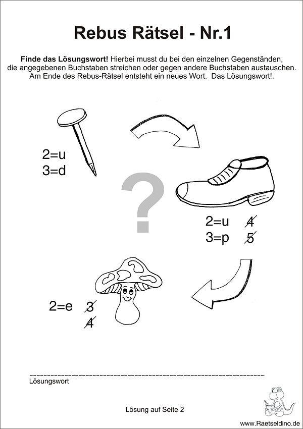 Rebus Ru00e4tsel fu00fcr Kinder : Kunstunterricht : Pinterest