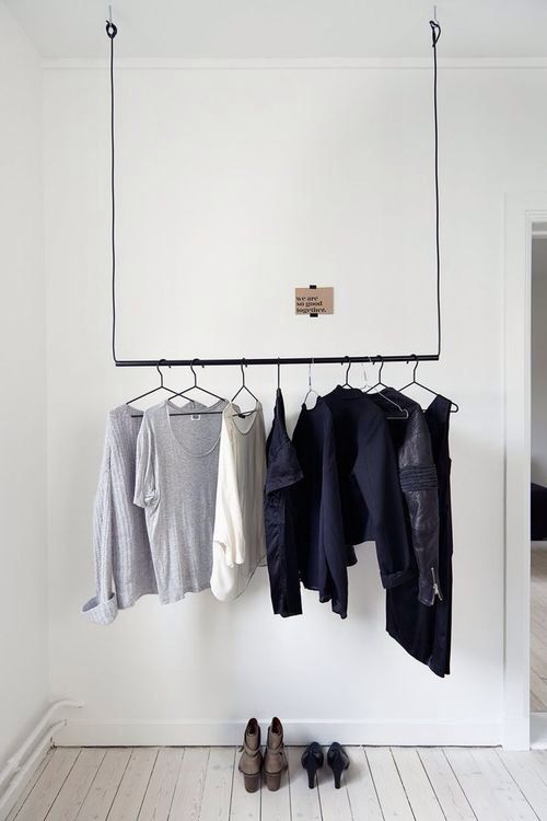 Out Of Closet Clothing Rack Echo Park Would Be A Great Place To Implement A Non Doored Closet Interior Interior Inspiration My Scandinavian Home