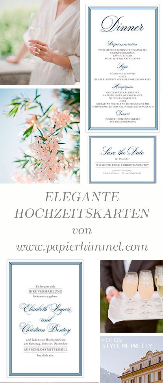 edle karten #edel #Hochzeitseinladungen #save the date #elegant ...
