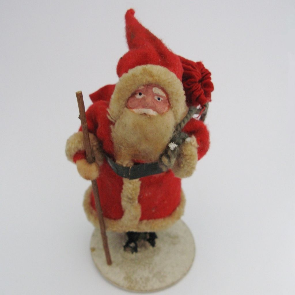 Vintage Japan Clay Face Father Christmas