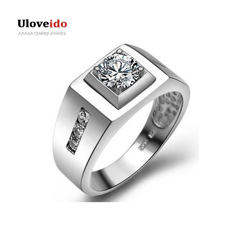Find More Rings Information about Men\'s Big Ring CZ Diamond Silver ...