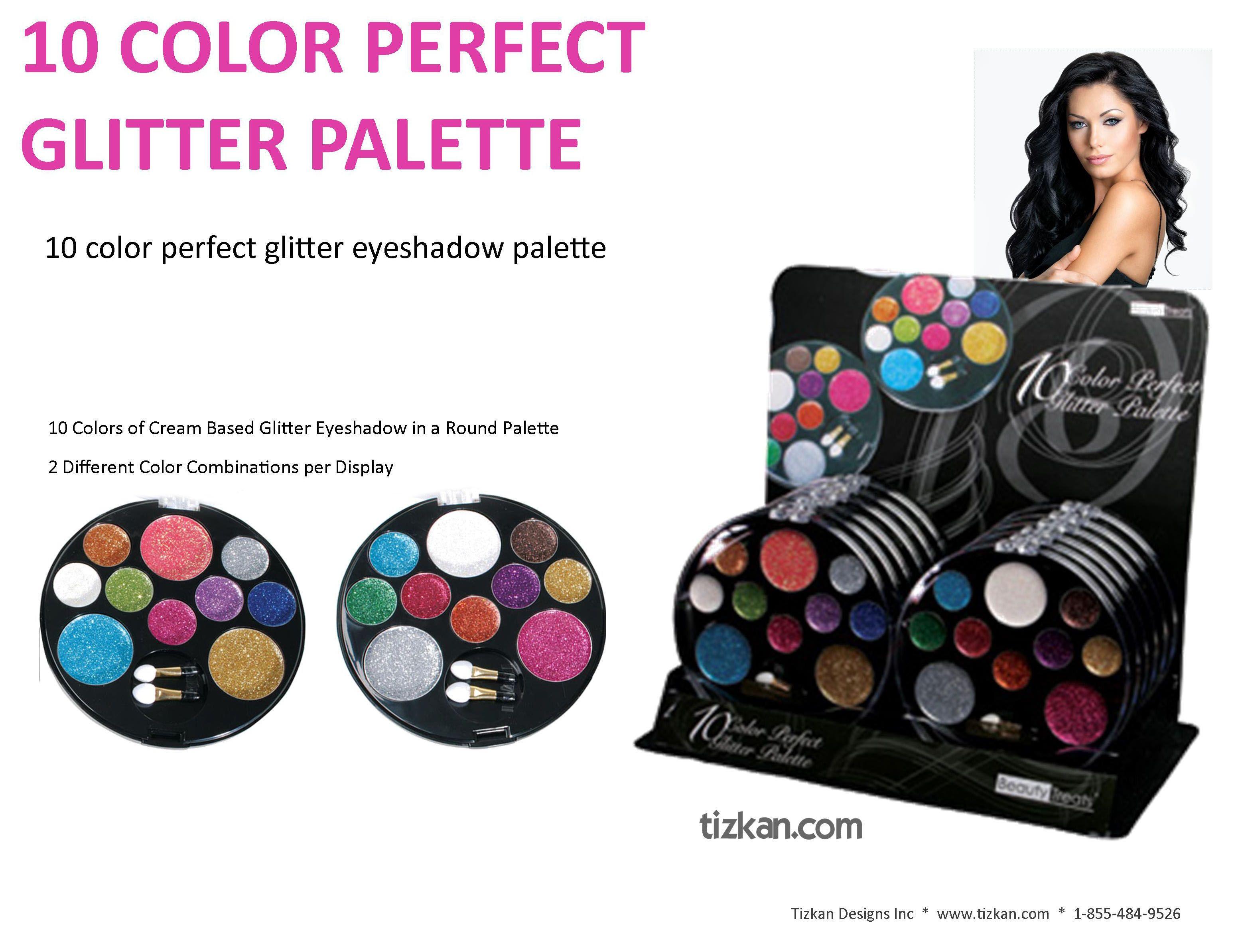 Beauty Treats 10 Colour Perfect Glitter Palette Cream