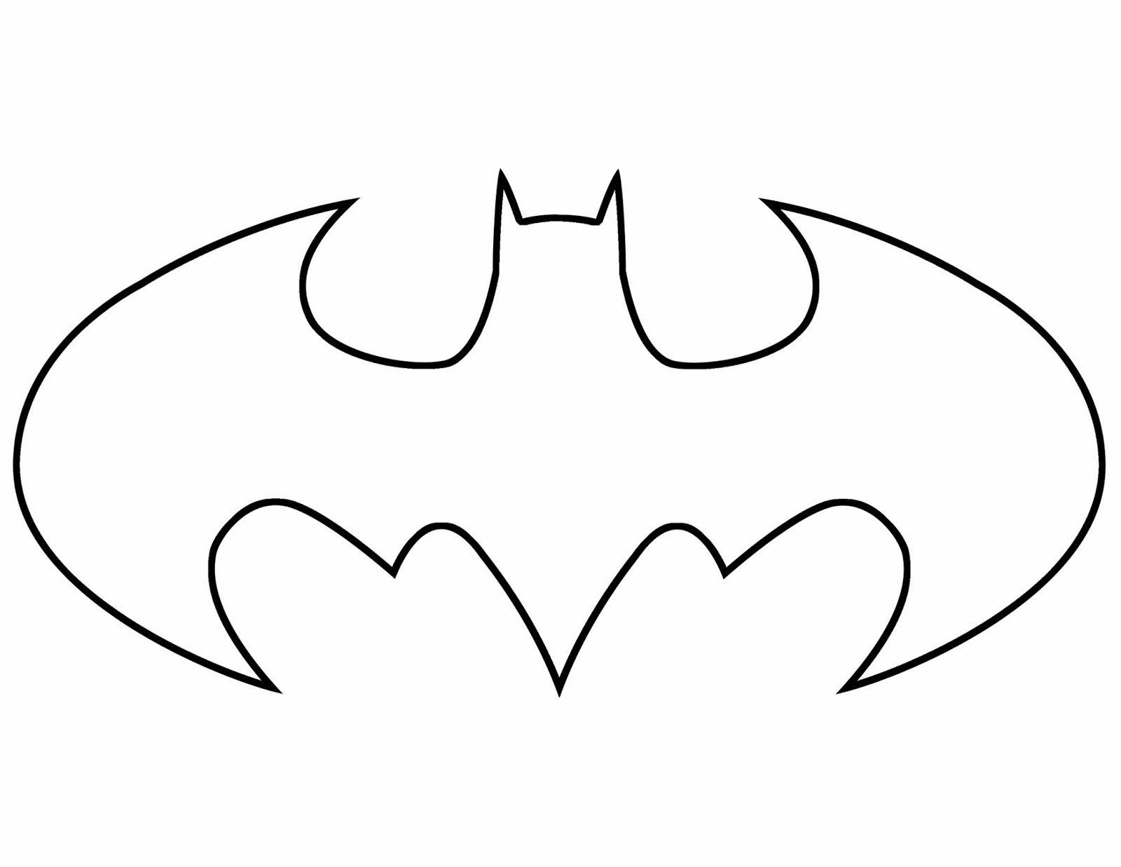 Superhero Logo Coloring Page Free Printout Sea4waterman Batman
