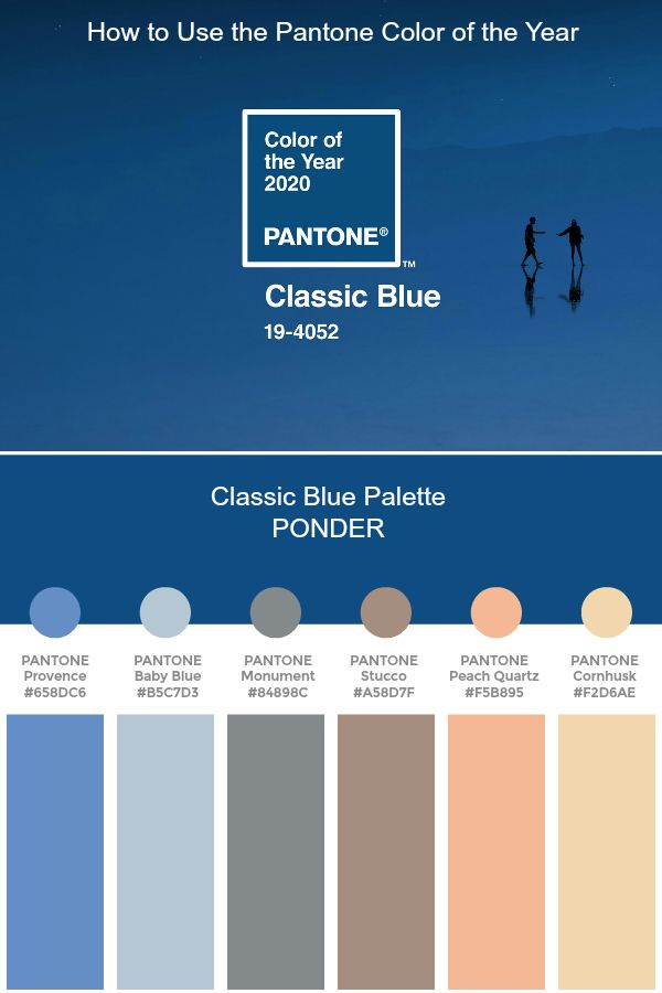 Pantone of the Year 2020 - Classic Blue Palette - PONDER | Color Trend 2020 #pantone #color #trends