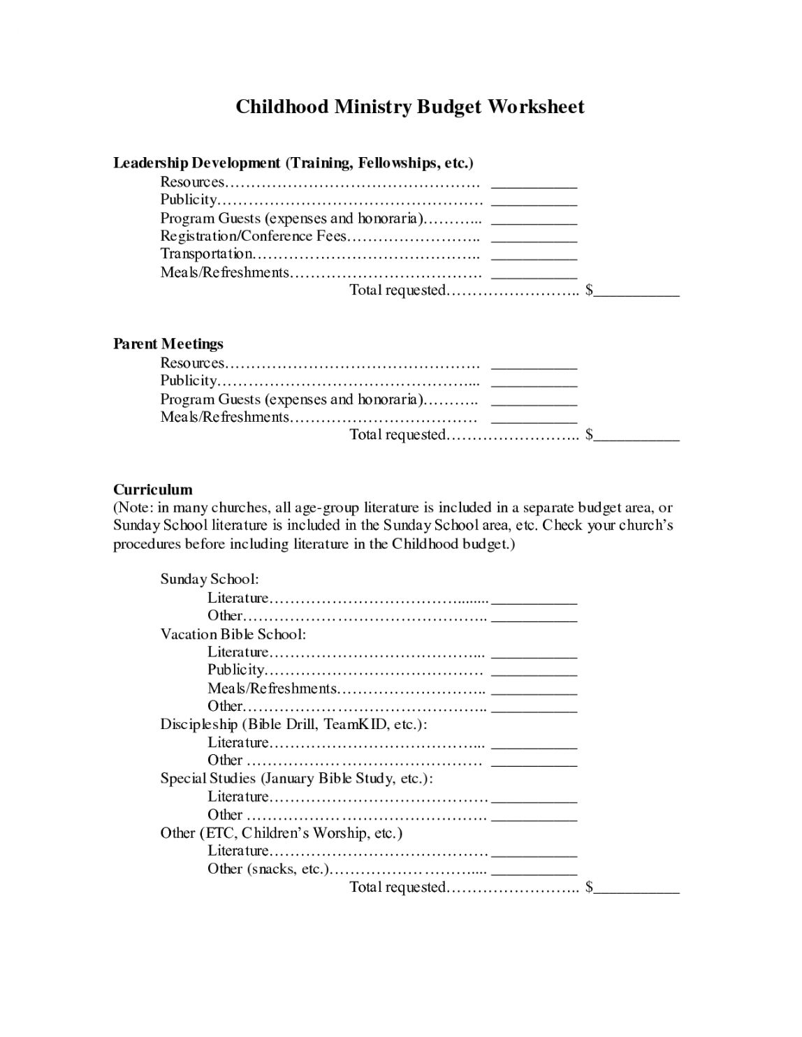 Get Our Image Of Youth Ministry Budget Template For Free Budget Template Budgeting Budgeting Worksheets