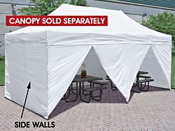 Side Walls for Instant Canopy - 10 x 20', White H-6549
