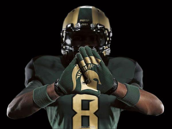 Michigan State Nike Pro Combat Uniforms Msu Football Michigan State Football Michigan State Spartans Football