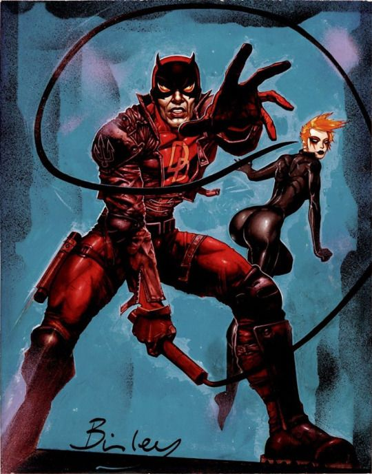 Daredevil and Black Widow by Simon Bisley