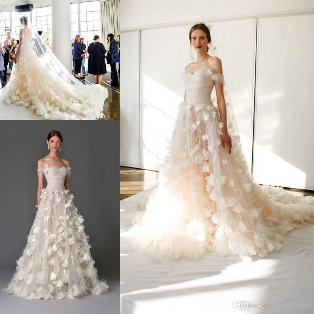 Marchesa 2017 3d floral princess off shoulderg 10241024 marchesa 2017 3d floral princess off shoulderg feather wedding dressesmarchesa junglespirit Image collections