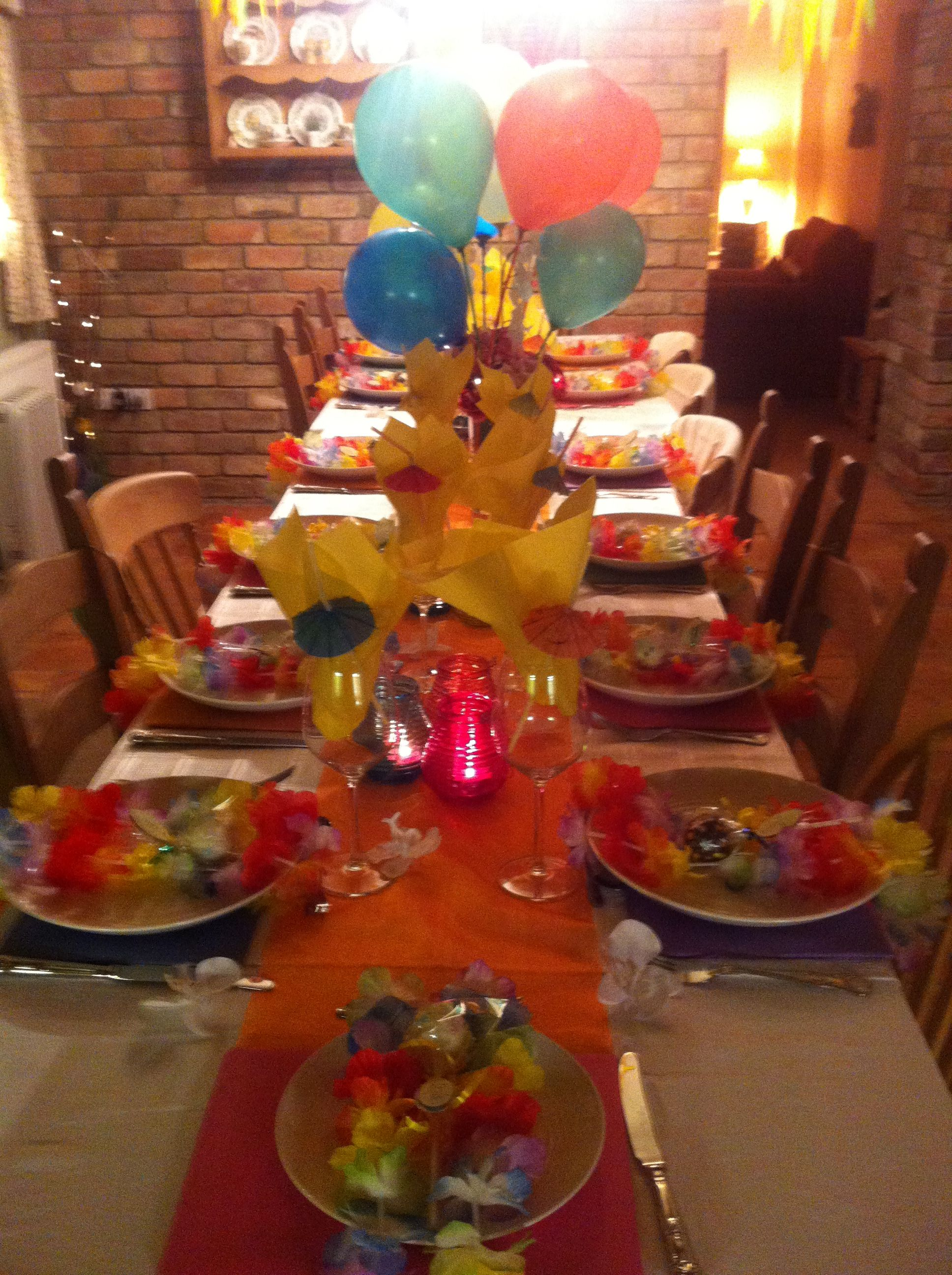 My Hawaiian Themed Supper Party Supper Club Theme Supper Party