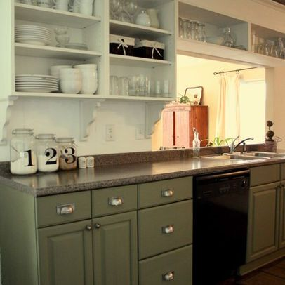 painted kitchen cabinets House plans Pinterest Cabinet design