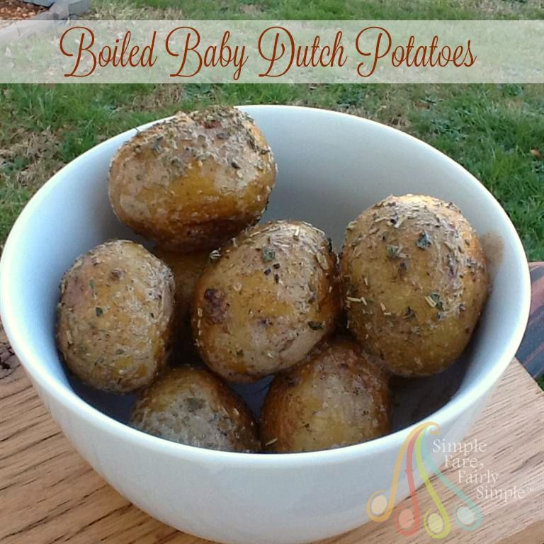 Boiled Baby Dutch Potatoes   Potatoes, Food, Food to make
