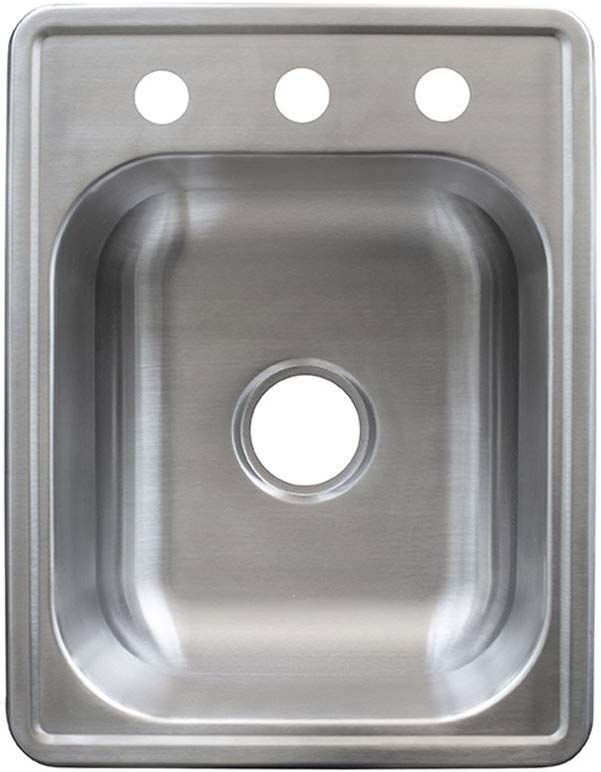 Kindred FSB1722BX 8 Deep Stainless Steel Single Bowl Top