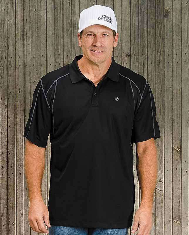 72b7b8bd Men's Ariat Short Sleeve Black Polo - Western Shirts - Men's   Men's ...