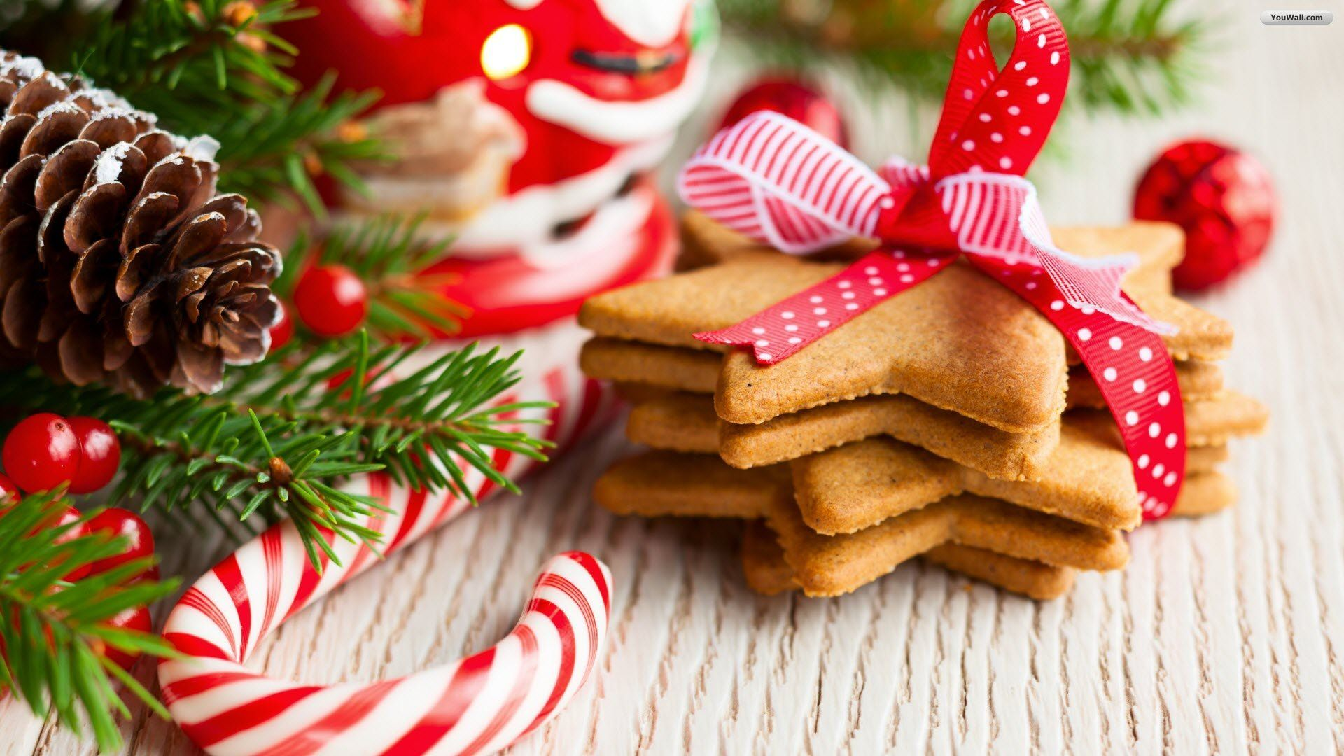 christmas cookies with festive decoration screensavers for iphone wallpaper - Christmas Special
