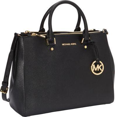 e2179c0f56 MICHAEL Michael Kors Jet Set Travel Large Dressy Tote Convertible Handbag  Black - via eBags.com!