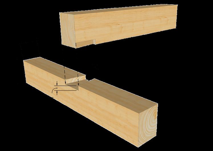 Zimmermannsm ige holzverbindung schwalbenschwanzkamm for Holzverbindungen fachwerk