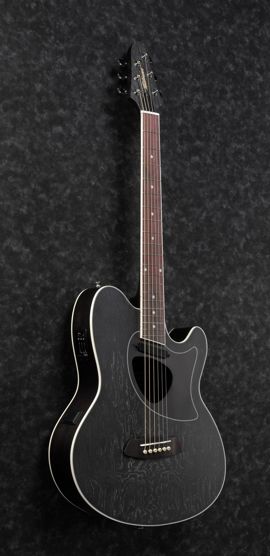 Ibanez Tcm50 Gbo Acoustic Guitar In Galaxy Black Open Pore Black Acoustic Guitar Ibanez Guitars Ibanez