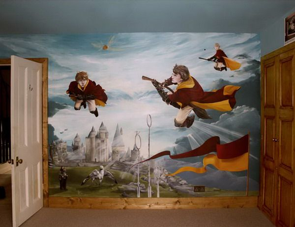 Children s murals  full room murals and feature walls for home and  business  Harry Potter Room. Wonderful Harry and Friends Wall Murals Bedroom   Harry Potter