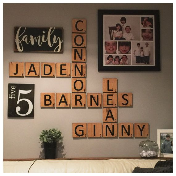 Gallery Wall Decor Wooden Sign Family Sign Family Number