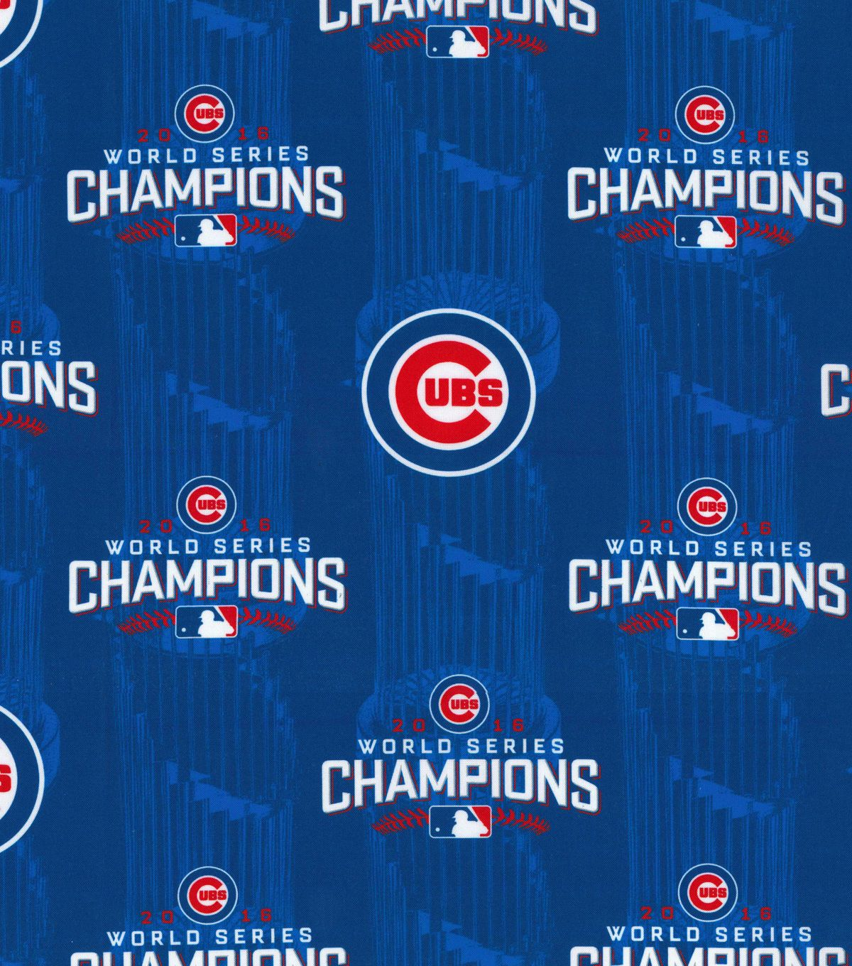 Chicago cubs world series championship cotton fabric 44