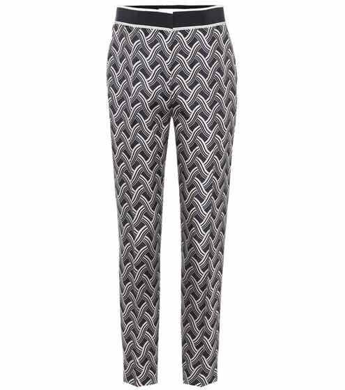 Printed silk trousers | Victoria Victoria Beckham