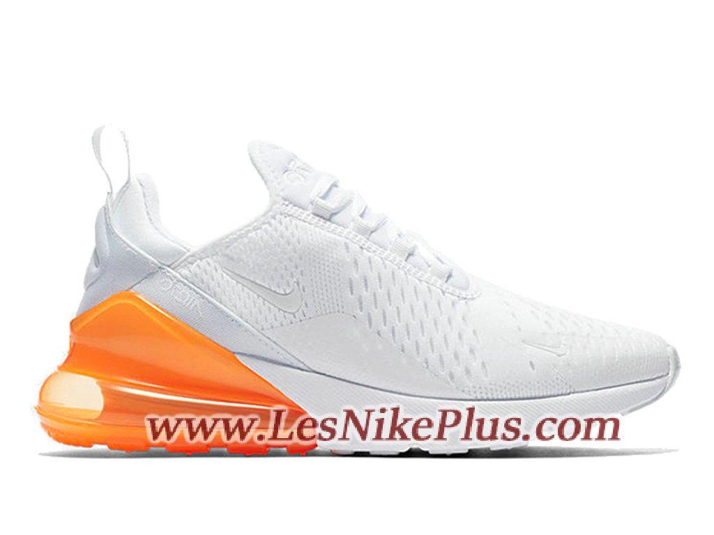 968e3ce52cb64 ... get sneaker nike air max 270 chaussures de basket pas cher pour homme blanc  orange ah8050