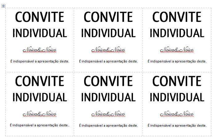 Convite Individual Para Baixar E Imprimir Em Casa Convites