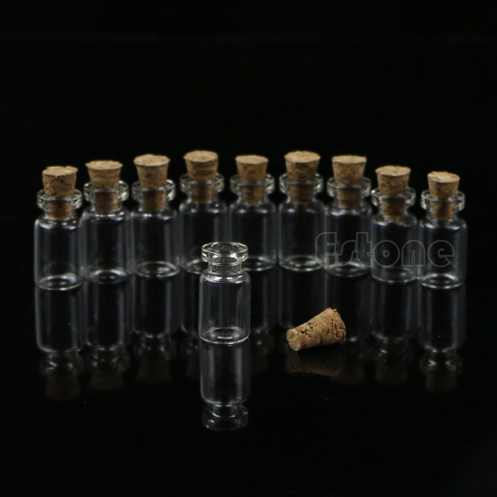 Details About 10pcs 0 5ml 10 18mm Small Empty Clear Glass Bottle Vials With Cork Storage Craft Mini Glass Bottles Glass Bottles Cork Stoppers