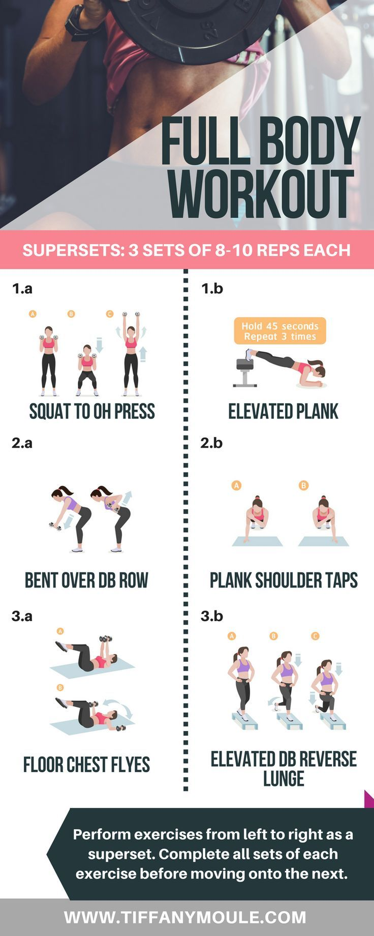 Enjoy this full body workout with just a set of dumbbells! This full body workou #fitness #fitnesswo...
