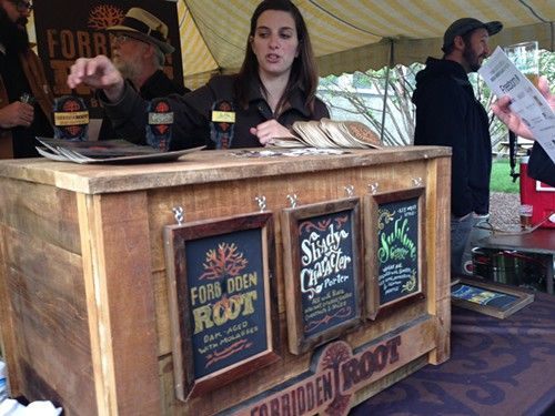 The Forbidden Root Booth At Beer Under Glass Craft Beer Festival