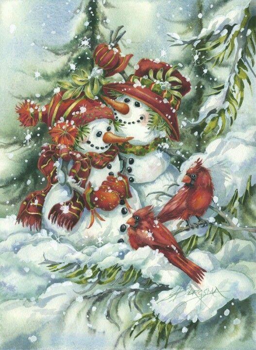 Snow couple bonhommes de neige pinterest bonhomme de neige bonhomme et neige - Pinterest bonhomme de neige ...