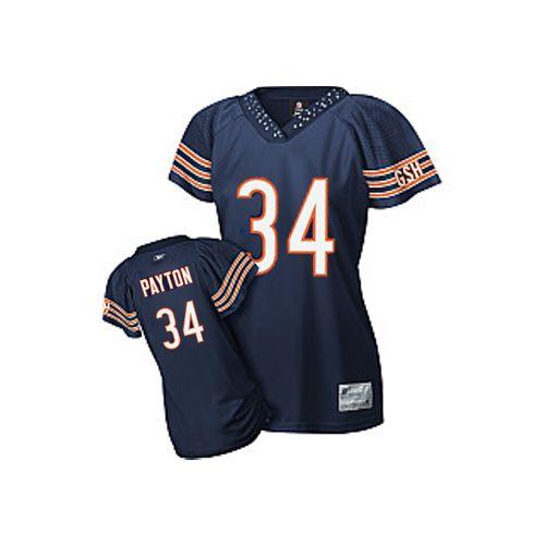 NFL Reebok Chicago Bears #34 Walter Payton Blue Women's Field Flirt  for sale