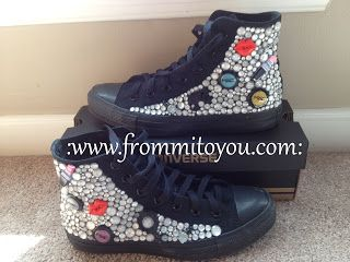 f988457ad466 Embellished Junk Chuck sby From Mi To You  shoes  converse  chucktaylor   bling  adult  girl  bow  woman  mac  barbie  lips  nailpolish  makeup   frommitoyou