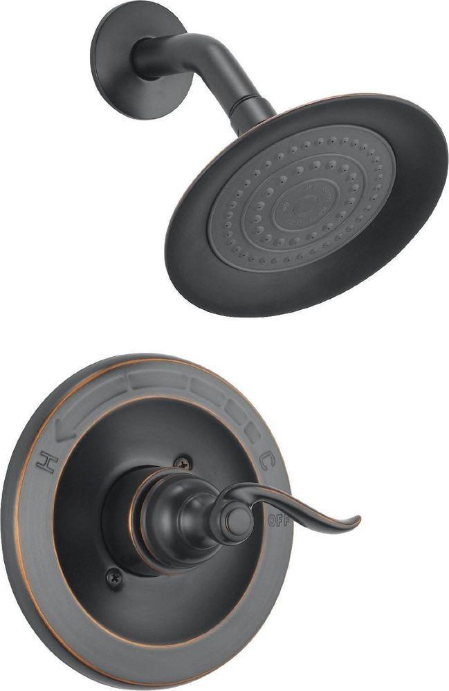Bronze Shower Head 14 Series Oil Rub Bathroom Fixture Delta Faucet