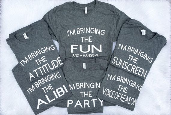 Group party shirts, Funny Party shirts, Girls Week