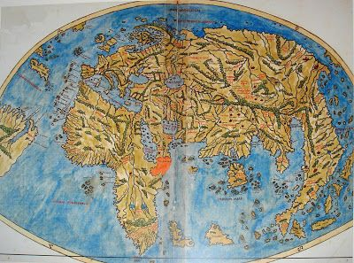 World map of Pietro Coppo (1470-1555) from Venice/Italy, published in 1520.
