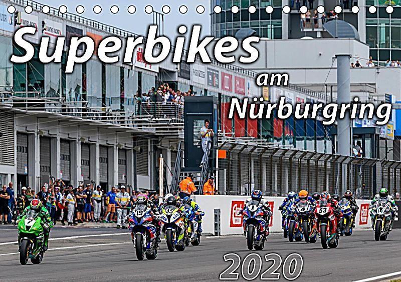 Superbikes am Nürburgring (Tischkalender 2020 DIN A5 quer) - Kalender