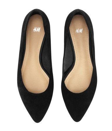 Ballerina shoes, Black pointed toe flats