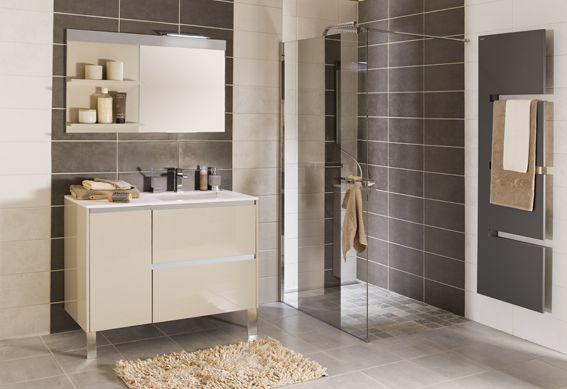 Salle de bain moderne taupe et grise acheter for Acheter salle de bain moderne