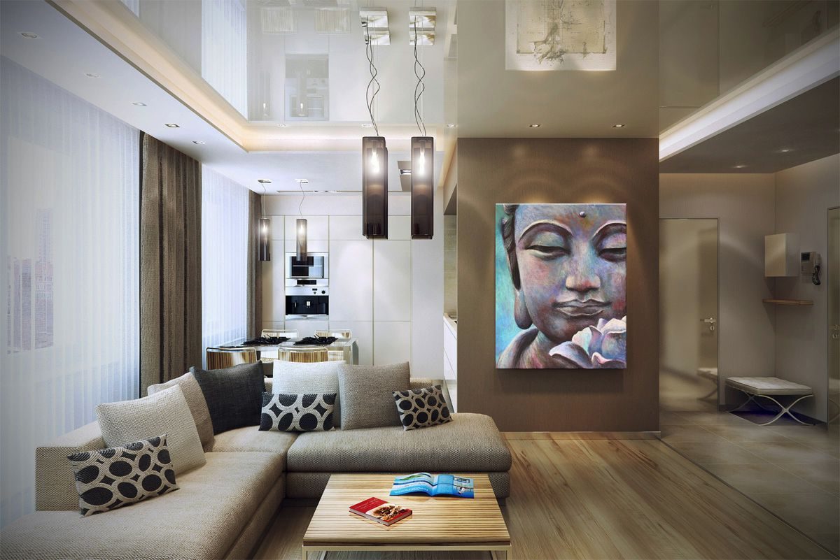 Fabulous Large Living Room With Amusing Large Buddha Wall Art 12 Inspiring Images Of Buddhist Home With Beautiful Buddha Decoração Budista Decoração Budista