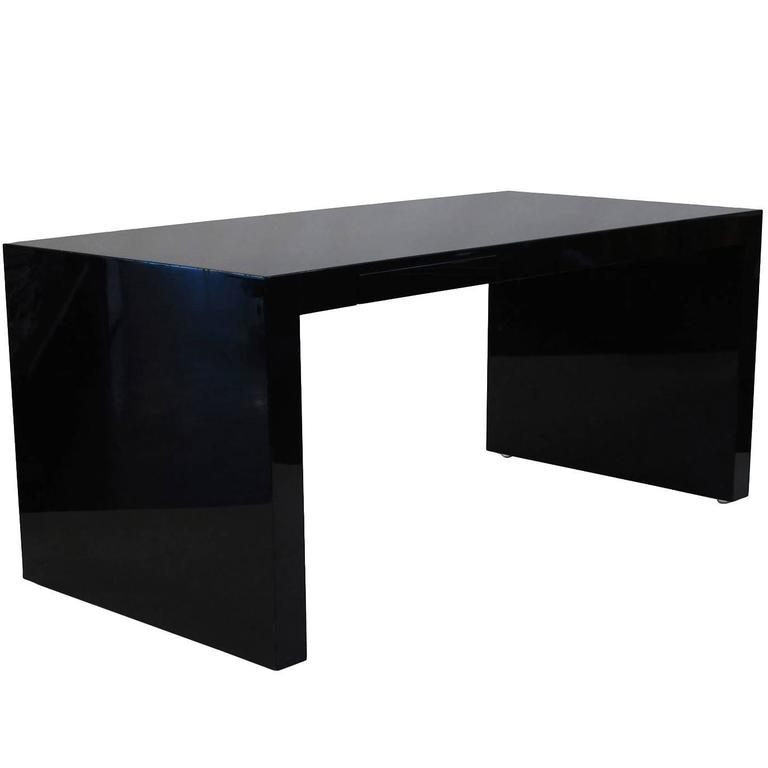 Paul Mayen Black Lacquer Desk From A Unique Collection Of