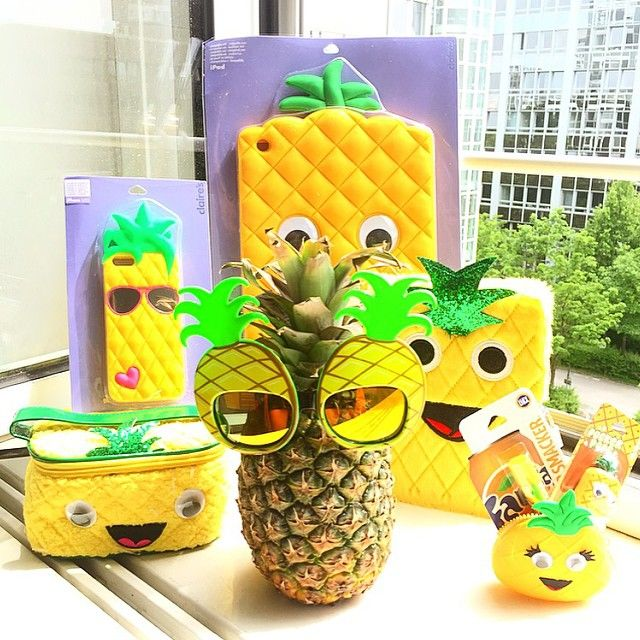Pineapples are so in right now! Look at all this cute stuff from Claire's!