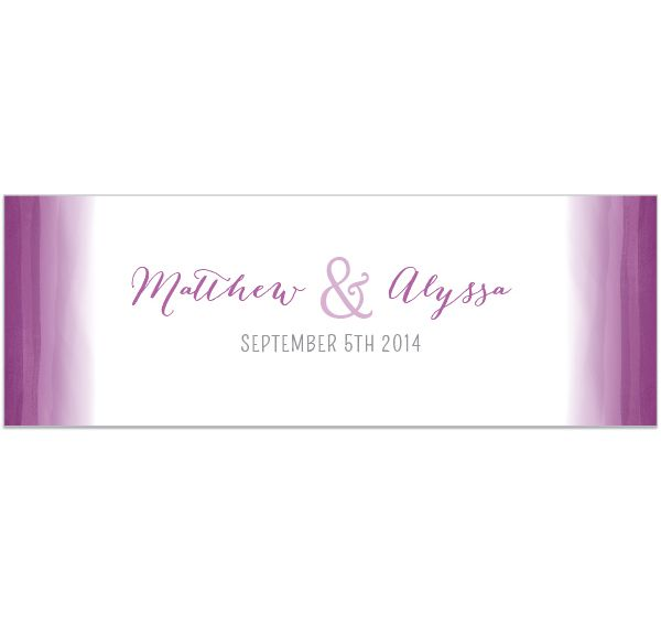 Orchid Ombre Table Runner is the perfect accessory for your head table or candy buffet table.  Table runner features a touch of purple color and your personalization.  #weddingdecorations