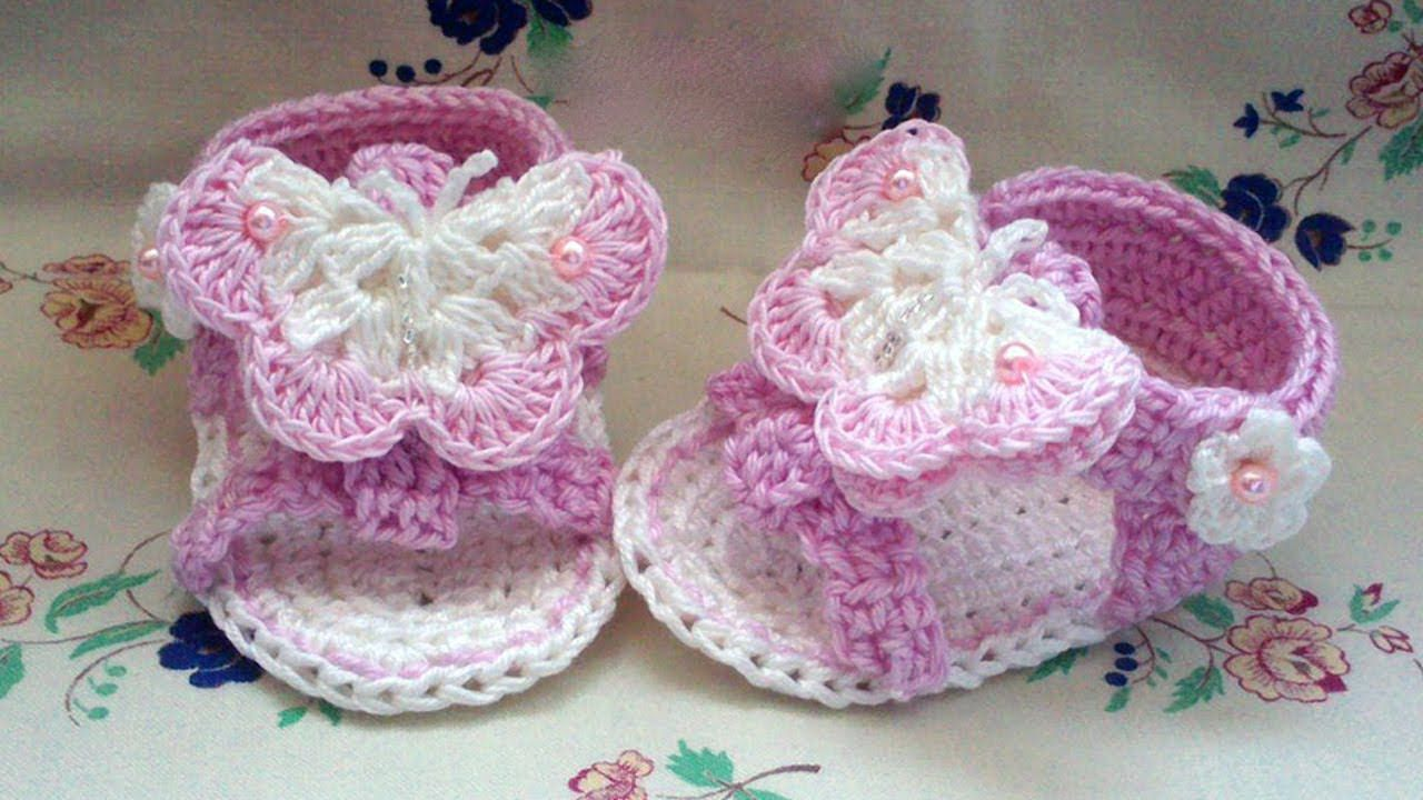 8d815093b Crochet Baby Sandals - This Lovely Life - YouTube