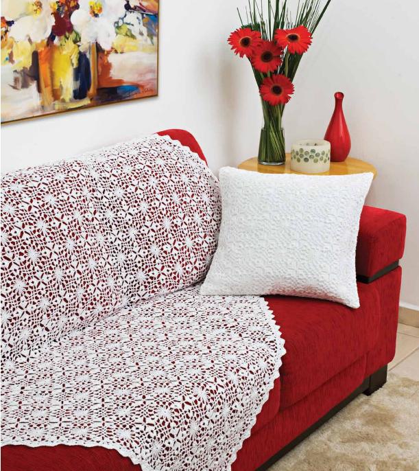 Manta y almohadón al crochet con grannys - con patrones y diagrama ...