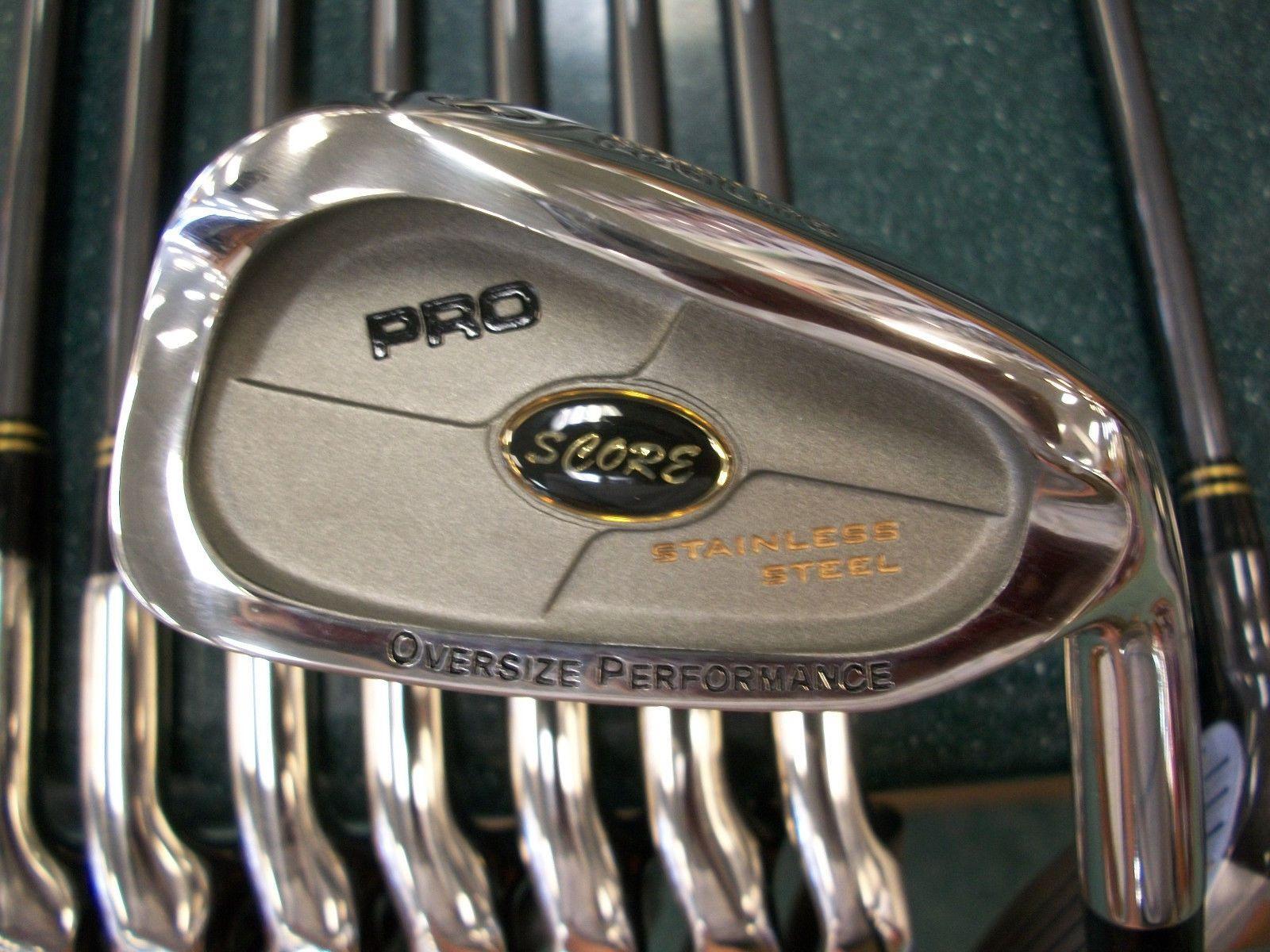 Proline Pro Score Men S Golf Club Set 1 3 5 Woods 3 Pw Irons Left Hand Mens Golf Clubs Golf Club Sets Golf Clubs