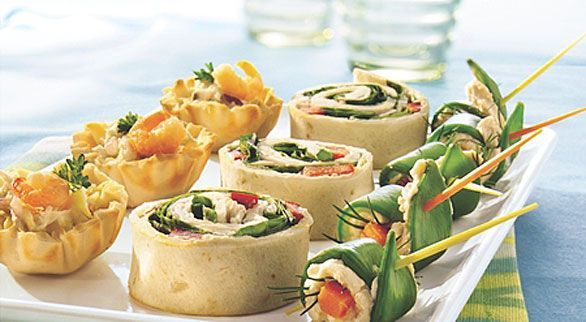 3 different types of appetizers! Beautiful #veggies #ideas