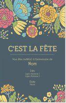 Modles De Anniversaire Adulte Invitations Et Faire Part Pour Page 6