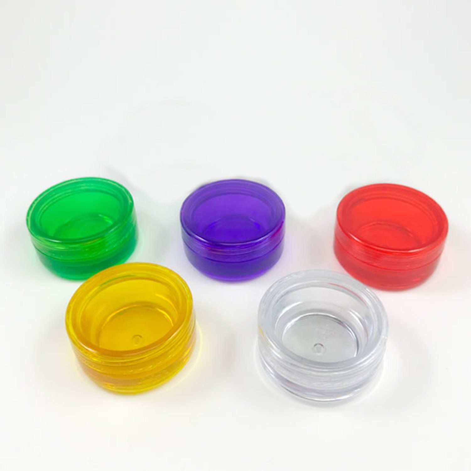 Acrylic Concentrate Containers For 1 Gram Or 7ml With Shrink Wrap Included Shrink Wrap Concentration Container